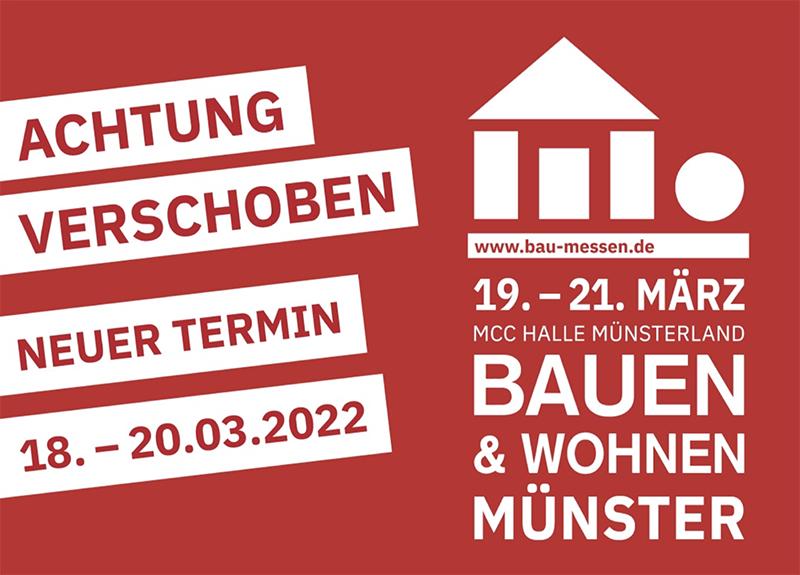 SAVE THE DATE: Verschiebung der Bauen & Wohnen Münster auf 2022